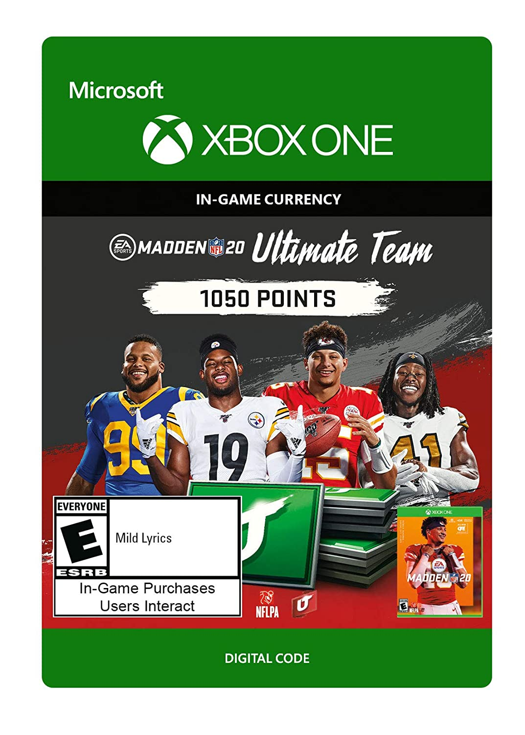 Gifts Madden NFL 20: MUT 1050 Points Pack One Digital Max 70% OFF - C Xbox