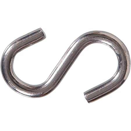 Hillman 4294 S Hook Stainless Steel 2-1/4 Inch, 8-Pack