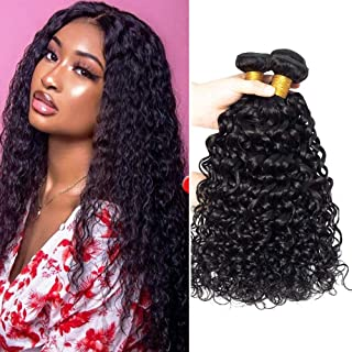 Brazilian Virgin Water Wave Hair 3 Bundles 9A Wet and Wavy Human Hair Weave Bundles 100% Unprocessed Virgin Brazilian Huma...