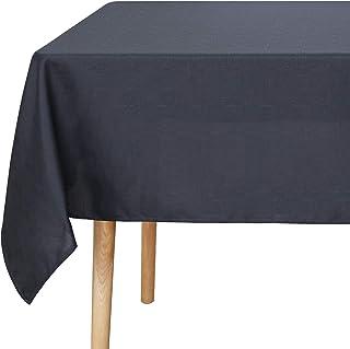 Amazon Brand - Umi Nappe Salle à Manger Rectangle Effet Lin Nappe Table Extérieur Impermeable 130x280cm Gris Foncé