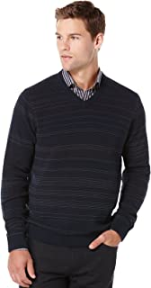 Extra Large Port//DFG Perry Ellis Mens Big and Tall Stripe Henley Sweater
