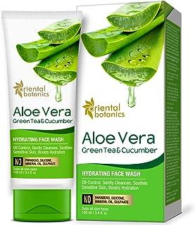 Oriental Botanics Aloe Vera, Green Tea & Cucumber Hydrating Face Wash - No Sulphate, Paraben, Silicone, 100ml