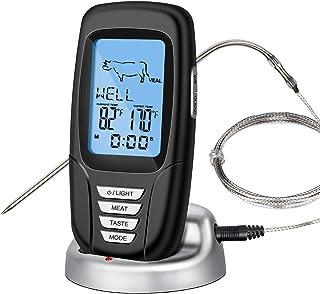 IREENUO Thermomètre à Viande sans Fil, Thermometre Viande Cuisine Numérique à Distance 328Ft pour Grill Four Barbecue avec...