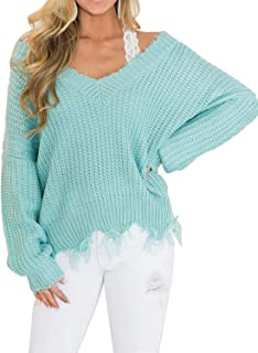 Best frayed sweater plus size Reviews