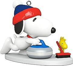 "Hallmark Keepsake Mini Christmas Ornament 2018 Year Dated, Peanuts Snoopy Winter Fun and Games Curling Miniature, 1"""
