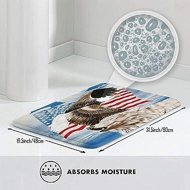 Alfombras de baño Antideslizantes, Flores Doradas Cereza sobre un Fondo geométrico Negro, Alfombrilla de baño de Felpa Lavabl