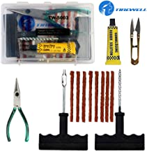 TIREWELL TW-5003 Tubeless Tire Puncture Repair Kit 6 in 1 Portable Flat Tyre Puncher Repair Box for Cars, Trucks, Motorcycles and SUVs