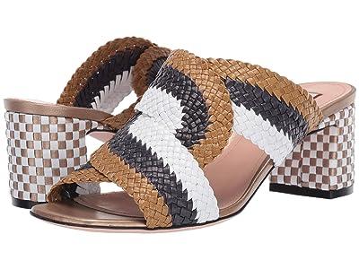 Bally Ianna Heeled Sandal (Pistachio/Ink/White) Women