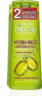 Garnier Fructis Shampoo Hydra Ricci con Filoxan ed Estratti di Bambù per Capelli da Mossi a Ricci, senza Parabeni, Confezi...