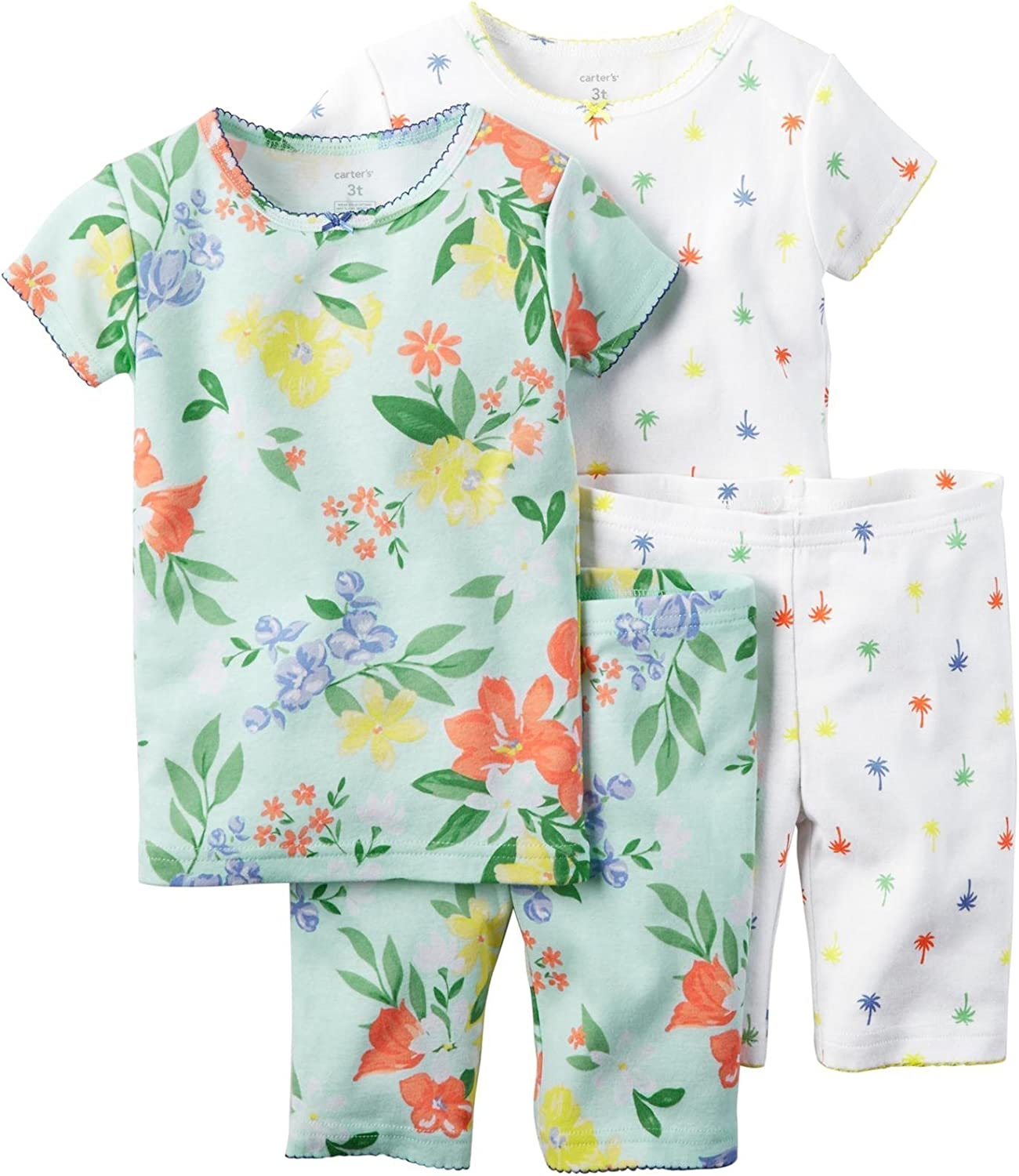 Carters Girls 4 Pc Cotton 371g090