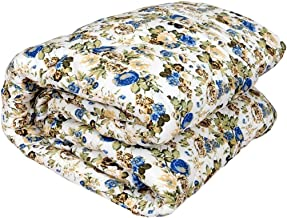 Trendd Microfiber Flower Print Double Bed Reversible AC Blanket/Dohar/Comforter (Polycotton, Multicolour, 90x100 Inches)