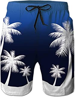 52900a8371 Loveternal Casual Mens Swim Trunks Quick Dry Printed Beach Shorts Summer  Boardshorts with Mesh Lining