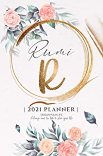 Rumi 2021 Planner: Personalized Name Pocket Size Organizer with Initial Monogram Letter. Perfect Gifts for Girls and Women...