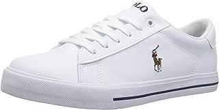 Polo Ralph Lauren Kids Unisex-Kid's Easton II Sneaker, White Tumbled Multi pop, 5 Medium US Big Kid