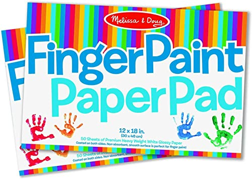 Melissa & Doug Finger Paint Paper Pad (12 x 18 inches) - 50 Sheets, 2-Pack