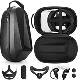 Esimen VR Accessories Kit for Oculus Quest 2 Travel Case with Head Elite Strap/Face Mask/Touch Controllers Cover Straps,In...