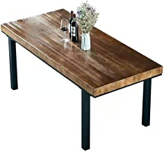 Dining Table, Solid Wood Dining Table, Desk, Kitchen Furniture, Office Furniture, Desktop Thickness 8cm, Durable,120x60x75cm