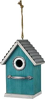Red Carpet Studios 40858 Rustic Handle Bird House, Teal