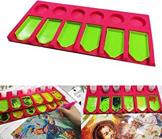 Diamond Painting Accessories Tray Organizer Multi-Boat Holder for Tray Jar Containers 5 D DIY Diamond Painting Kits for Adults