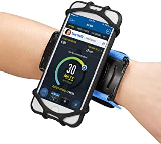 Newppon 180 Rotating Sports Cellphone Wristband :for iPhone Xs Max Xr X 6s 7 8 Plus Samsung Galaxy S9+ S8 S7 Google Pixel LG HTC 180° Rotatable Running Armbands for Gym Fitness Exercise Workout