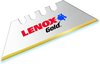 LENOX Utility Knife Blades, Titanium Edge, 5-Pack (20350GOLD5C)