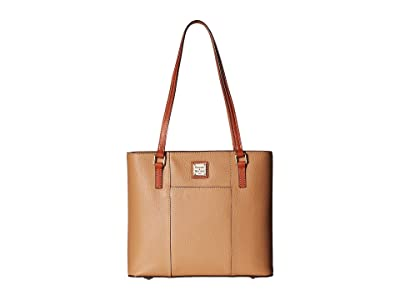 Dooney & Bourke Pebble Small Lexington Shopper (Desert) Tote Handbags
