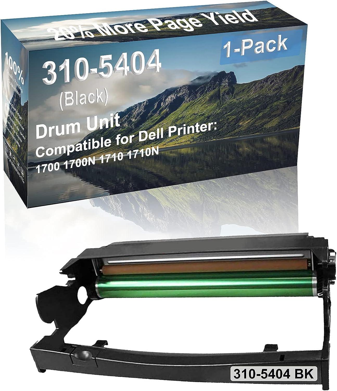 1-Pack Compatible 310-5404 Drum Kit use for Dell 1700 1700N 1710 1710N Printer (Black)