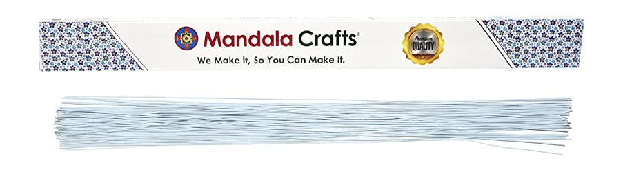 Mandala Crafts White Brown Red Black Green 18 20 22 24 26 Gauge Florist Stem Paddle Floral Wire, 16