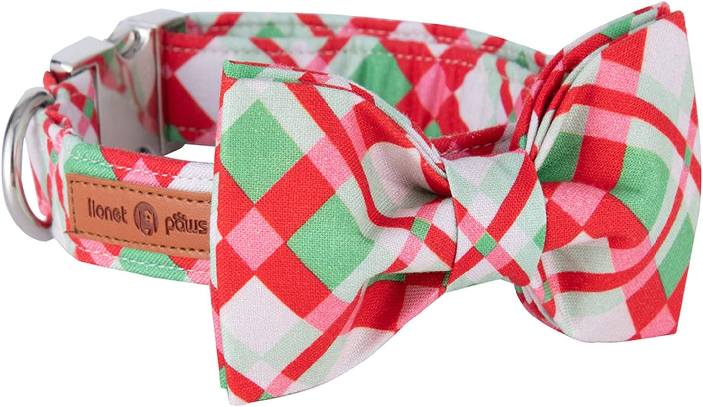 Lionet Paws Christmas Dog Collar Durable Bowtie Adjustable with Super sale period Indefinitely limited
