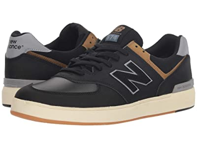 New Balance Numeric AM574 (Black/Tarnish) Men