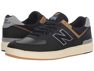 New Balance Numeric AM574 (Black/Tarnish) Skate Shoes