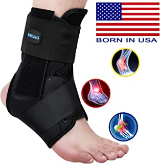 SNEINO Ankle Brace,Lace Up Ankle Brace for Women,Ankle Brace for Men,Ankle Brace Stabilizer,Ankle Brace for Sprained Ankle,Ankle Braces, Volleyball Ankle Braces,Ankle Supports for Women (Small)
