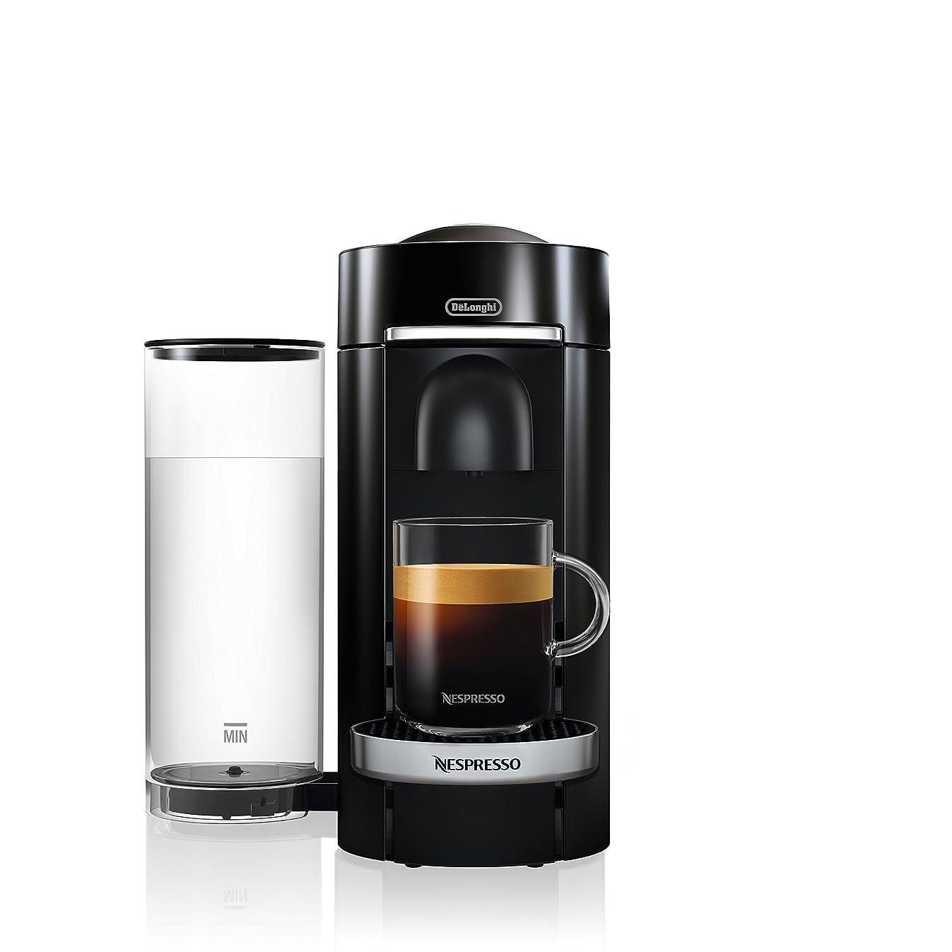 Nespresso ENV155B VertuoPlus Deluxe Coffee and Espresso Maker by De'Longhi, Black