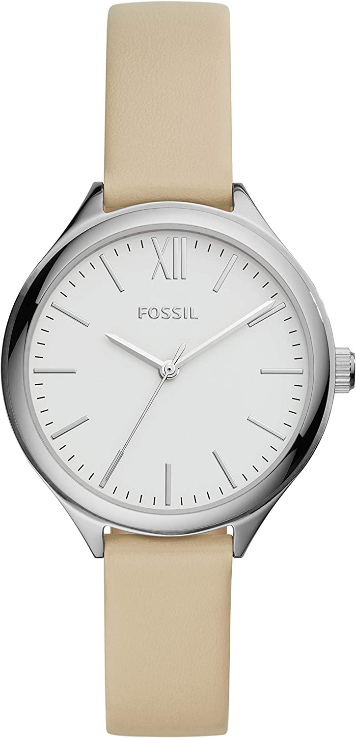 4 years warranty Long Beach Mall Fossil Women's Suitor Metal and Quartz Watch Leather Dress