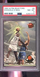 1992-93 Ultra Award Winner Rejector Shaquille O'Neal ROOKIE PSA 8 Card Shaq Rejectors