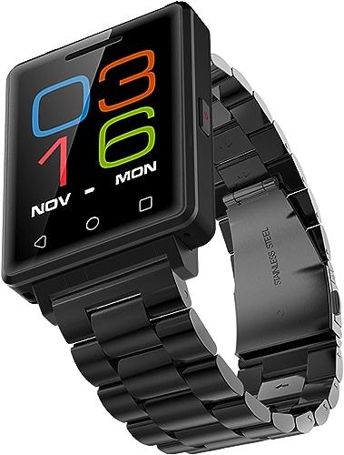 Steel - noir Abacus Montre Intelligente , Chronomètre Smart And Cool Watch For Men , Caméra à Distance   Lecteur De Musique Montre Sport