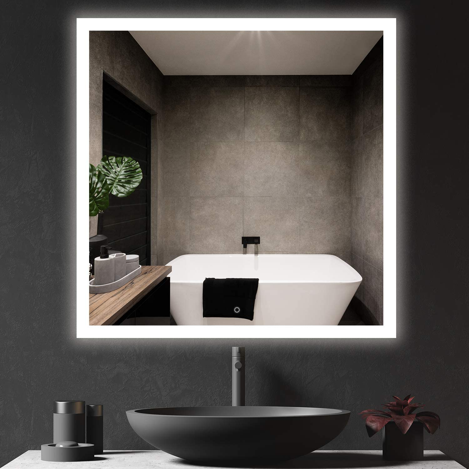 Roomtec 30x30 Inch LED Bathroom IP44 Light Backlit Mirror 6000 Discount mail store order
