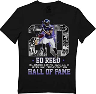Ed-Reed No. 20 Hof Hall Fame Funny Baltimore Football Jersey T-Shirt