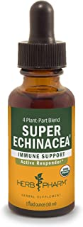 Herb Pharm Certified Organic Super Echinacea Liquid Extract for Active Immune System Support - 1 Ounce