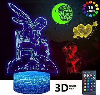 3D Love Night Light, DDDNIGHTLIGHT 4 Patterns Led...