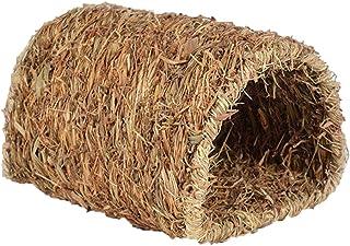 UKCOCO Nido de hierba tejida natural para hámsteres y otros animales pequeños (Tunnel Shaped)