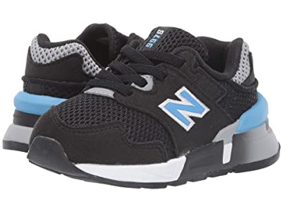 New Balance Kids S997Jv1 (Infant/Toddler) (Black/Light Lapis Blue) Boys Shoes