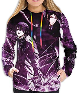 JoyRDaniels Black Butler Women Hoodie Sweatshirts 3D Graphic Print Drawstring Pullover