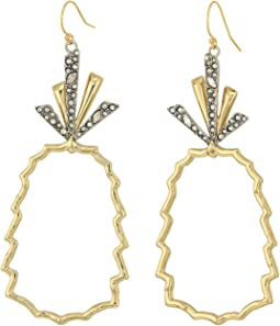 Alexis Bittar - Crystal-Leaf Pineapple Wire Earrings