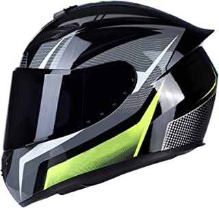 Romacci Capacete de motocicleta Capacete de rua rápido facial unissex Adulto Cool Rider Equipamento Capacete de motociclet...