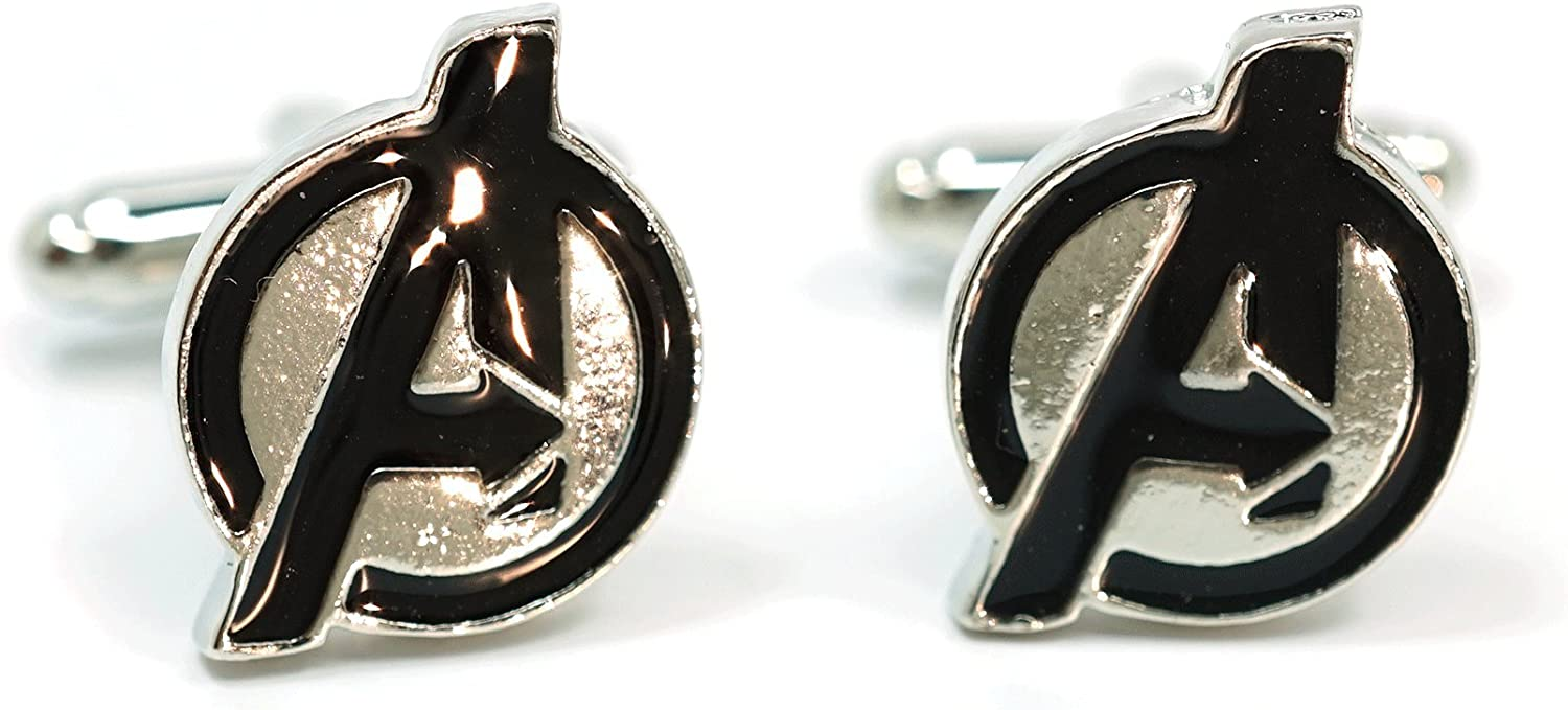 Teri's Boutique Superhero Avengers Movie Jewelry Shirt Mens Wedding Gift Cuff Links with Gift Box