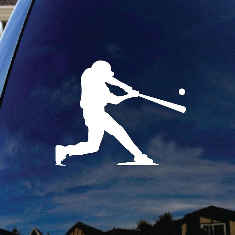 SoCoolDesign Baseball Player at Bat Car Window Vinyl Decal Sticker 5