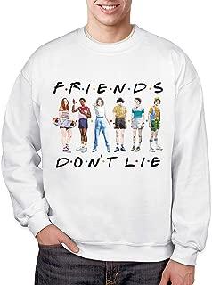 Men's TV Show Pullover Sweatshirts Sportwear Friends Don't Lie Graphic Crewneck Sweatshirt for Men