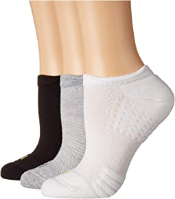 Air Cushion No Show 3D Sole Socks 3-Pair Pack