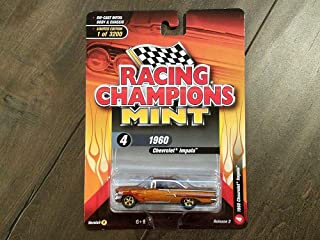 1960 Chevrolet Impala Orange with Red Flames Limited Edition to 3,200 Pieces Worldwide 1/64 Diecast Model Car by Racing Champions RCSP007